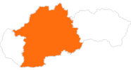 map of all tourist attractions in Central Slovakia