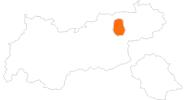 Karte der Ausflugsziele im Alpbachtal Seenland