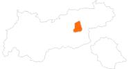 Karte der Ausflugsziele Erste Ferienregion im Zillertal