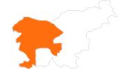 Karte der Ausflugsziele in Westslowenien