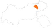 Karte der Wetter in der Ferienregion Hohe Salve