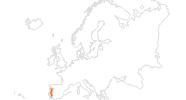 Karte der Ausflugsziele in Portugal