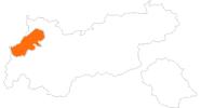 Karte der Ausflugsziele im Lechtal