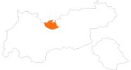 Karte der Ausflugsziele in der Olympiaregion Seefeld