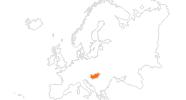 Karte der Ausflugsziele in Ungarn