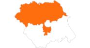 Karte der Ausflugsziele in Nord-Yorkshire
