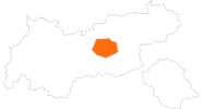 Karte der Ausflugsziele in der Region Hall - Wattens