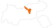 Karte der Ausflugsziele in der Silberregion Karwendel
