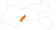 Karte der Ausflugsziele in Stubai
