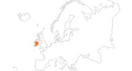 Karte der Ausflugsziele in Irland