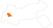 Karte der Ausflugsziele in Tirol West