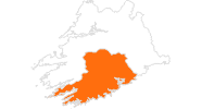 map of all tourist attractions in Cork