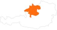 Karte der Ausflugsziele in Oberösterreich
