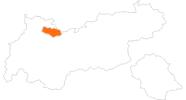 Karte der Ausflugsziele in der Tiroler Zugspitz Arena