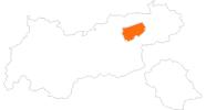 Karte der Ausflugsziele in Wildschönau