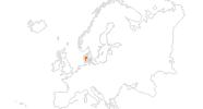 Karte der Ausflugsziele in Dänemark