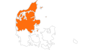 map of all tourist attractions in the North and Central Denmark Region