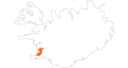 map of all tourist attractions in the Capital Region of Iceland