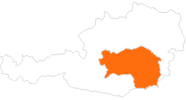 map of all tourist attractions in Styria