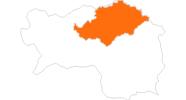 Karte der Ausflugsziele in der Hochsteiermark