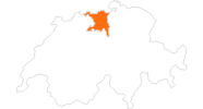 map of all tourist attractions in the Aargau Region