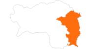 Karte der Ausflugsziele im Thermenland Steiermark