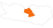Karte der Ausflugsziele in der Region Nockberge Bad Kleinkirchheim