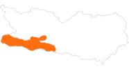 Karte der Ausflugsziele in Nassfeld-Pressegger See - Lesachtal - Weissensee