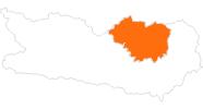 Karte der Ausflugsziele in der Erlebnisregion Hochosterwitz - Kärntenmitte