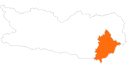 Karte der Ausflugsziele am Klopeiner See - Südkärnten