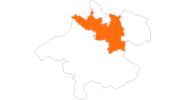 Karte der Ausflugsziele in Donau Oberösterreich