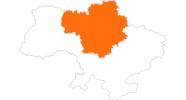 Karte der Ausflugsziele in der Zentralukraine