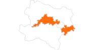 Karte der Ausflugsziele in Donau Niederösterreich