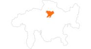 Karte der Ausflugsziele in Arosa