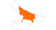 map of all tourist attractions in Uttar Pradesh