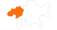 Karte der Ausflugsziele in Surselva