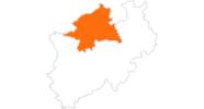Karte der Ausflugsziele in Münsterland