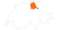 map of all tourist attractions in the Zurich region
