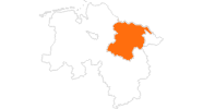 map of all tourist attractions in the Lüneburg Heath