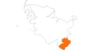 Karte der Ausflugsziele im Herzogtum Lauenburg