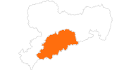 Karte der Ausflugsziele im Erzgebirge