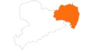 Karte der Freizeitparks in Oberlausitz