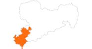 Karte der Ausflugsziele im Vogtland