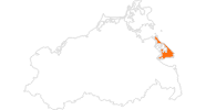 map of all tourist attractions on the Isle Usedom