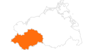 map of all tourist attractions in Mecklenburg-Schwerin