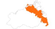 Karte der Ausflugsziele in Vorpommern