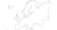 Karte der Radtouren in Europa