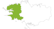 map of all bike tracks in Finistère