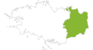 map of all bike tracks in Ille-et-Vilaine