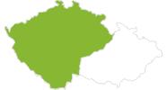 Karte der Radtouren in Böhmen